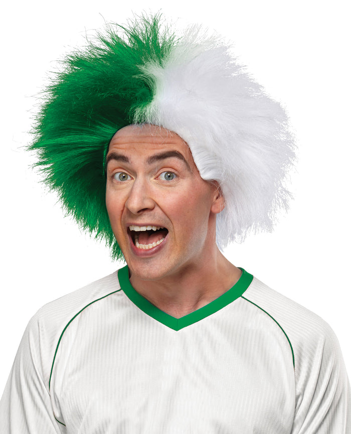 Cheerleader & Sports Costume, Halloween Costumes, Sports Team Event Wig Green White, Wigs & Hair Costume