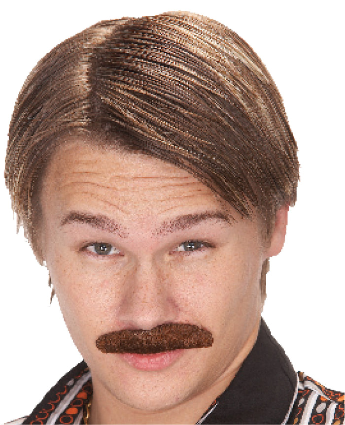 60's - 70's Costume, 70s Dude Mustache- Brown, Halloween Costumes, Mustache & Beards Costume