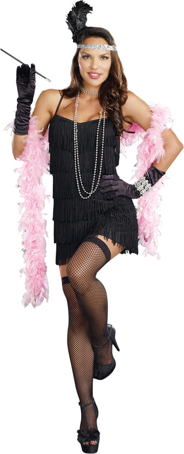 20's - 40's Costume, adult female costume, Flapper Black Adult Wig, Gangster & Flapper Costume, Halloween Costumes, Wigs & Hair Costume