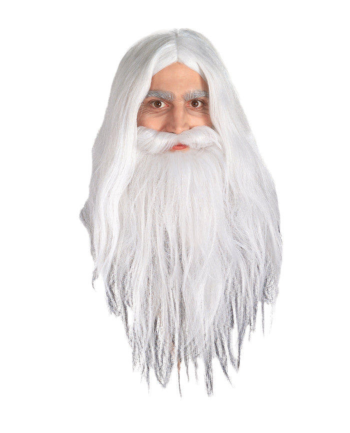 Gandalf Wig And Beard, Halloween Costumes, Lord of the Rings Costume, white wig, Wigs & Hair Costume