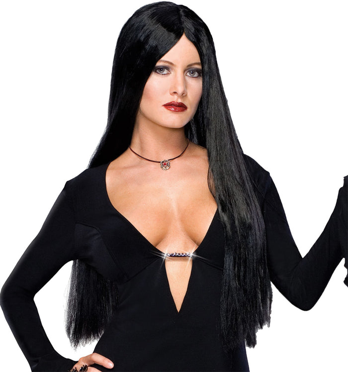 Addams Family Costume, Addams Family Deluxe Morticia Adult Wig, Gothic & Vampire Costume, Halloween Costumes, Wigs & Hair Costume