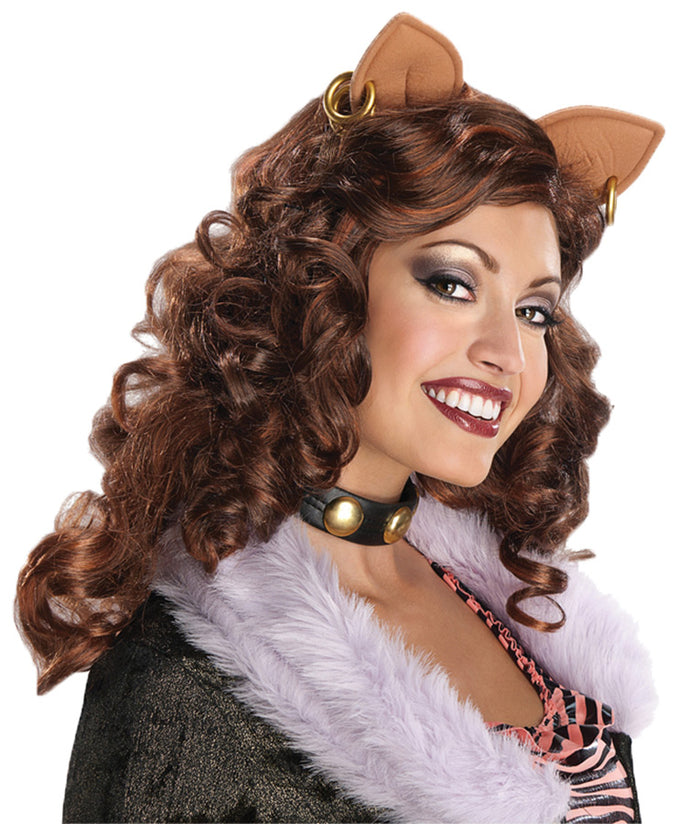 Halloween Costumes, Monster & Ever After High Costume, Monster High Clawdeen Wolf Adult Wig, white wig, Wigs & Hair Costume