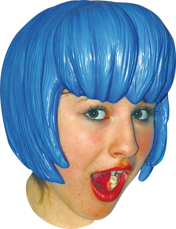 Anime Wig Style 6 Latex Blue, Halloween Costumes, Japanimation Costume, white wig, Wigs & Hair Costume