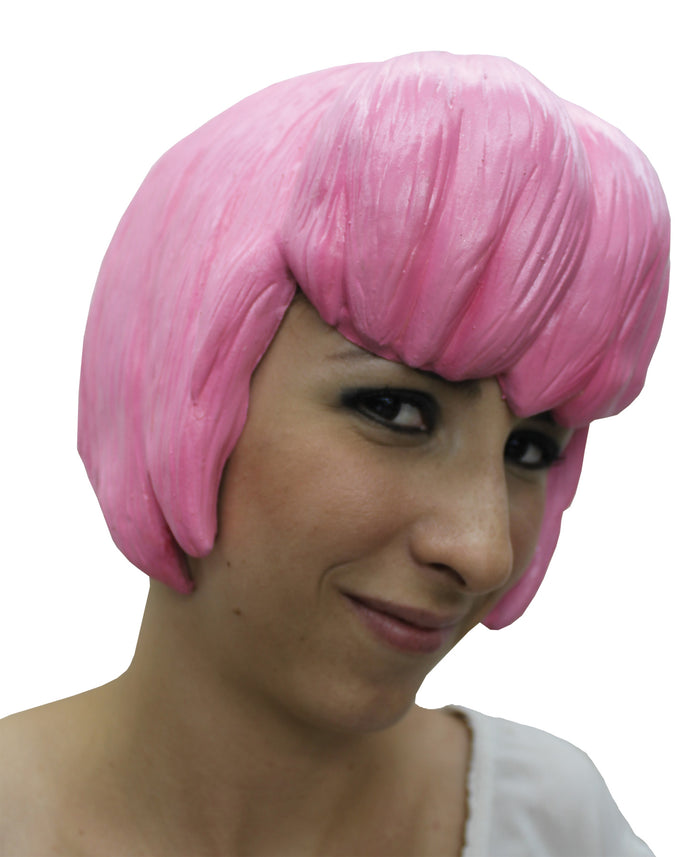 Anime Wig Style 6 Latex Pink, Halloween Costumes, Japanimation Costume, white wig, Wigs & Hair Costume