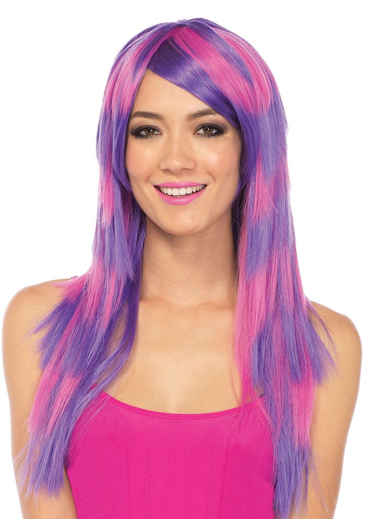Halloween Costumes, Wig Long Striped Cheshire Cat, Wigs & Hair Costume