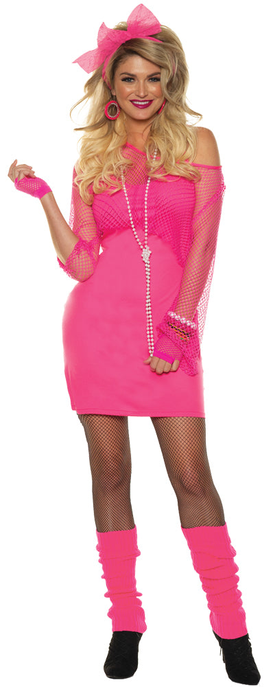 Totally 80s Dress Womens Costume Lg