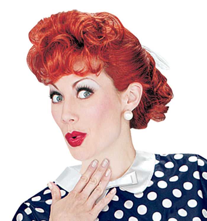 Halloween Costumes, I Love Lucy Adult Wig, I Love Lucy Costume, white wig, Wigs & Hair Costume