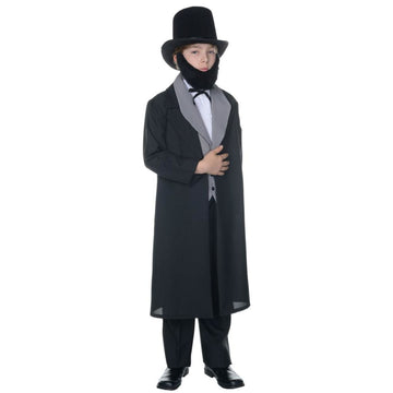 Abraham Lincoln Boys Costume Medium 6-8 - Boys Costumes Halloween costumes