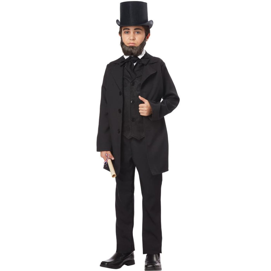 Abraham Lincoln Frederick Doug Boys Costume Lg - Boys Costumes Halloween
