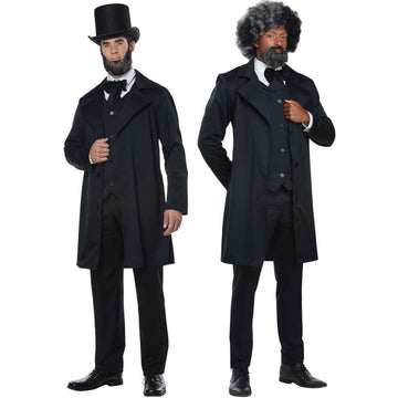 Abraham Lincoln Frederick Doug Mens Costume Xl - adult halloween costumes