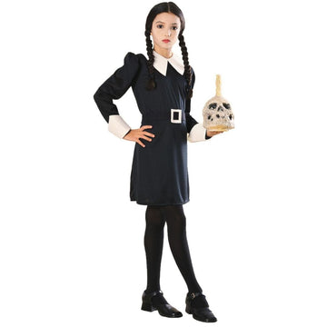 Addams Family Wednesday Kids Costume Medium 8-10 - Addams Family Costume Girls