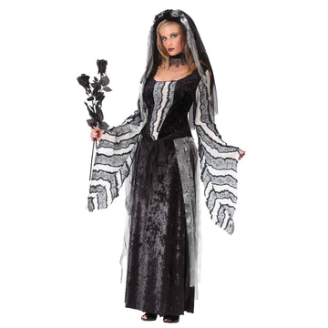 Adult Black Rose Spirit Sm-Md - adult halloween costumes female Halloween