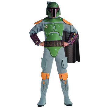 Adult Deluxe Boba Fett - Adult Halloween Costume adult halloween costumes