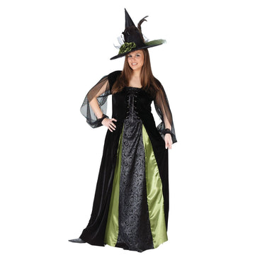 Adult Goth Maiden Witch - adult halloween costumes female Halloween costumes