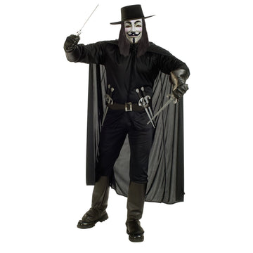 Adult V For Vendetta Costume Xl - Adult Halloween Costume adult halloween