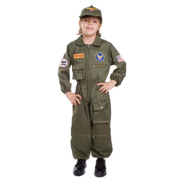 Air Force Pilot Boys Costume Sm - Boys Costumes boys Halloween costume Halloween