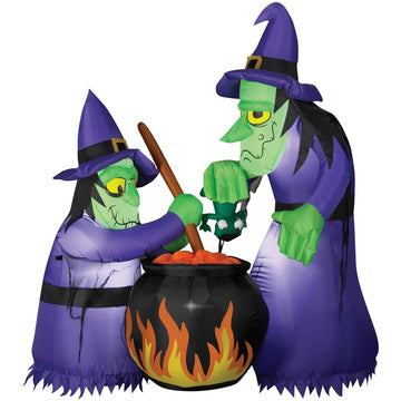 Airblown Animated Double Witch - Decorations & Props Halloween costumes haunted