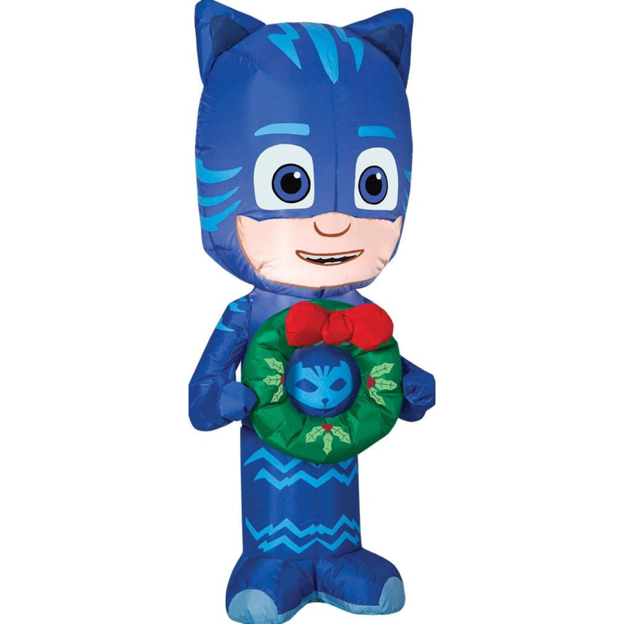 Airblown Catboy With Wreath Sm - Decorations & Props Halloween costumes haunted