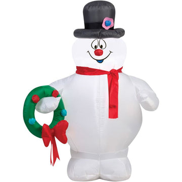 Airblown-Frosty Holding Wreath - New Costume
