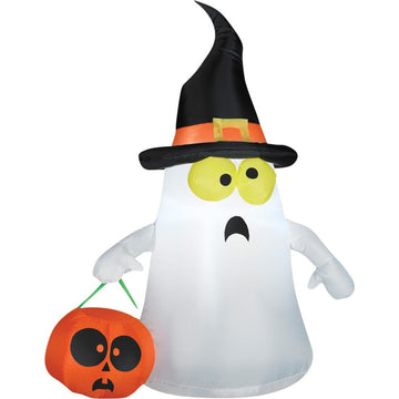 Airblown-Ghost With Witch Hat-Small - New Costume