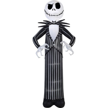 Airblown Jack Skellington Giant 10 Ft - Christmas Decorations Decorations &