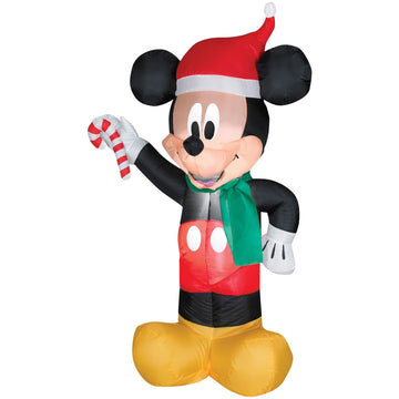 Airblown Mickey Santa W Candy - Christmas Decorations Decorations & Props