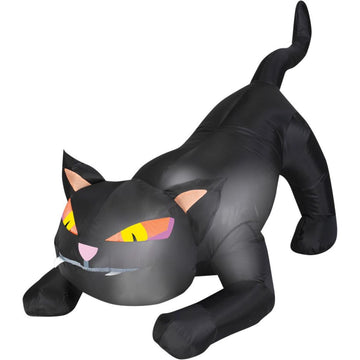 Airblown Outdoor Black Cat Sm - Decorations & Props Halloween costumes haunted