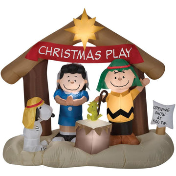 Airblown-Peanuts Nativity Scene - New Costume