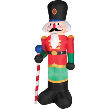 Airblown Red Nutcracker - Christmas Decorations Decorations & Props Halloween