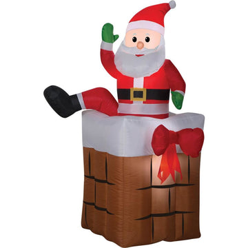 Airblown Santa Climbing Animat - Decorations & Props Halloween costumes haunted