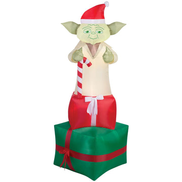 Airblown-Yoda On Presents - Decorations & Props haunted house decorations