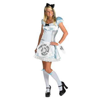 Alice Adult Md 8-10 - adult halloween costumes Alice in Wonderland Costume