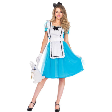 Alice Classic Adult Costume Large - adult halloween costumes Alice in Wonderland