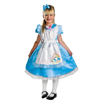 Alice Deluxe Toddler Costume 3T-4T - Alice in Wonderland Costume Fairytale
