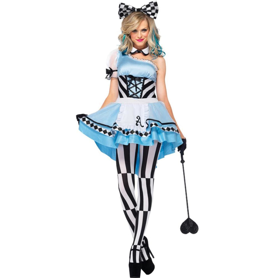 Alice Psychedelic 3 Piece Adult Costume Small - adult halloween costumes Alice