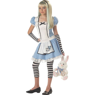 Alice Tween Costume Large 10-12 - Alice in Wonderland Costume Fairytale Costume