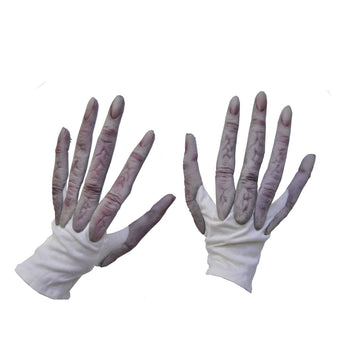 Alien Hands - Ghoul Skeleton & Zombie Costume Hands Feet & Chest