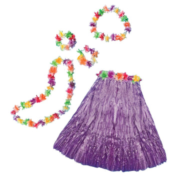 Aloha Set Adult Costume Purple - adult halloween costumes female Halloween