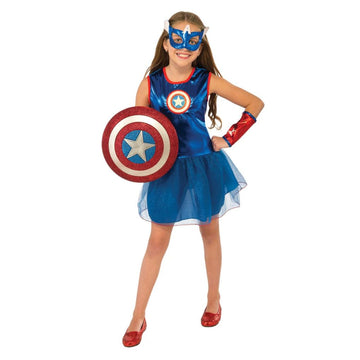 American Dream Kids Costume Medium 8-10 - Captain America Costume DC Comics