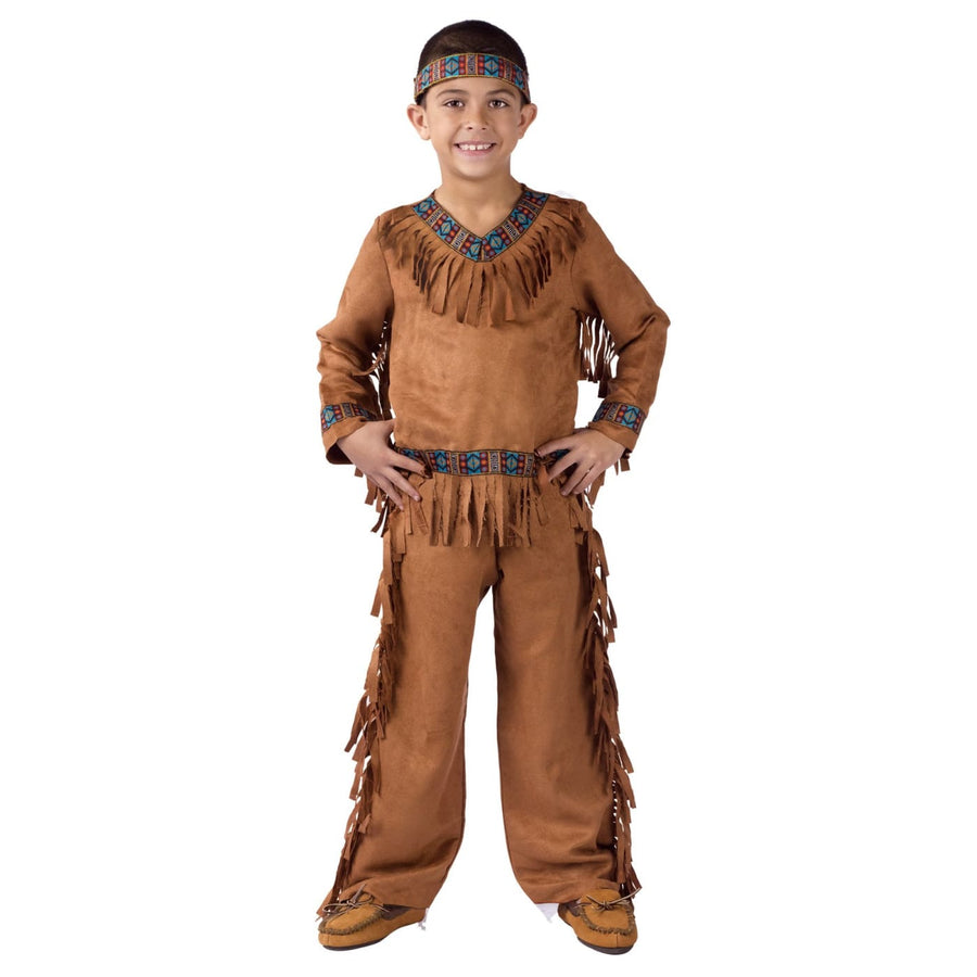 American Indian Boy Boys Costume Sm - American Halloween Costume Boys Costumes