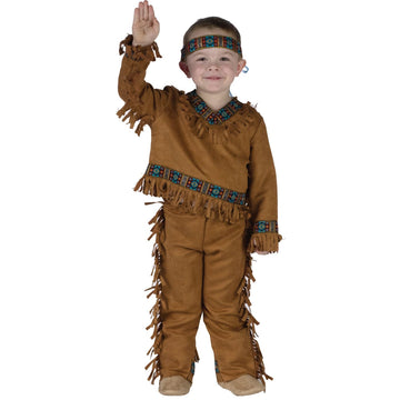 American Indian Boy Toddler Costume 24 Months-2T - American Halloween Costume