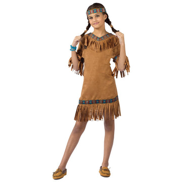 American Indian Girl Child Lg - American Halloween Costume Girls Costumes girls