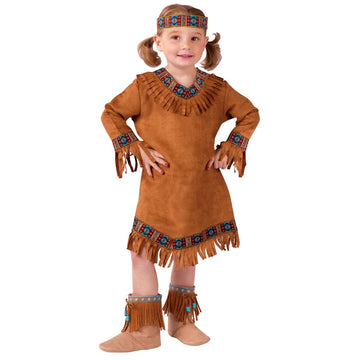 American Indian Girl Toddler Costume 3T-4T - American Halloween Costume