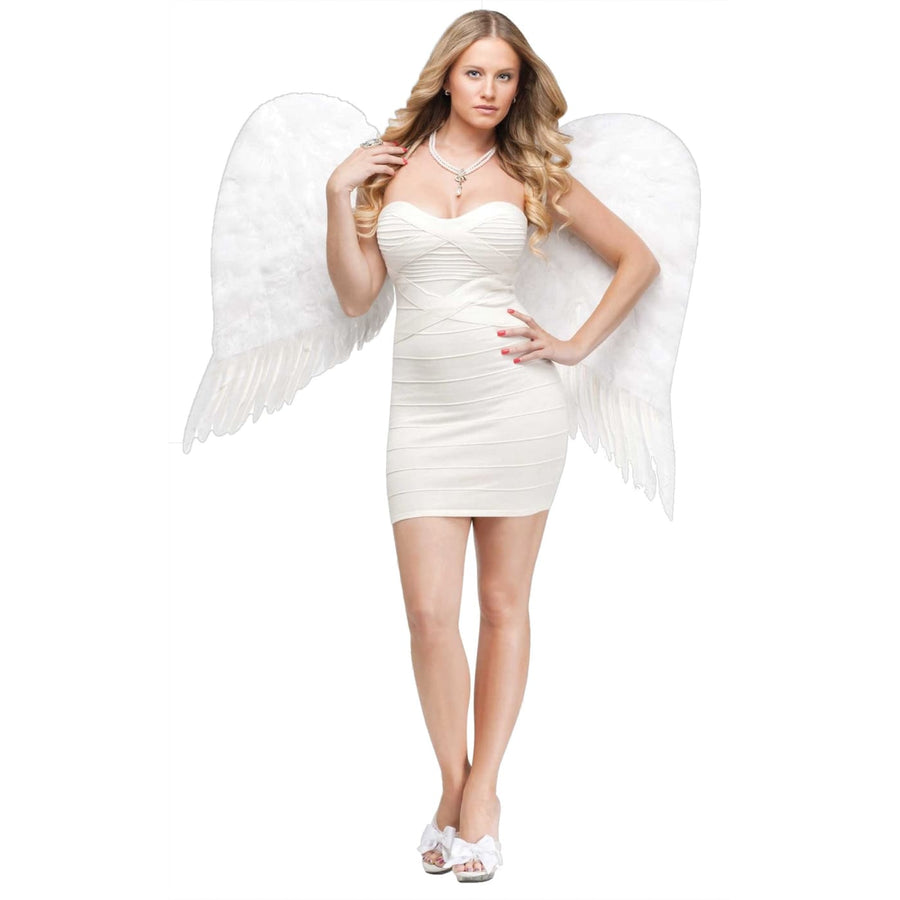 Angel Wings Feather Adult White - Angel & Fairy Costume Halloween costumes