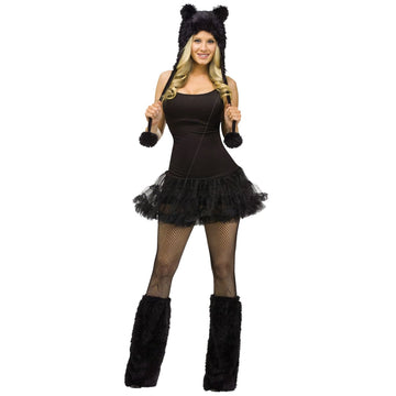 Animal Hoodie Adult Costume Black Cat - adult halloween costumes Animal & Insect