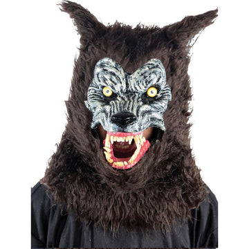 Animated Animal Werewolf Brown Mask - Animal & Insect Costume Costume Masks