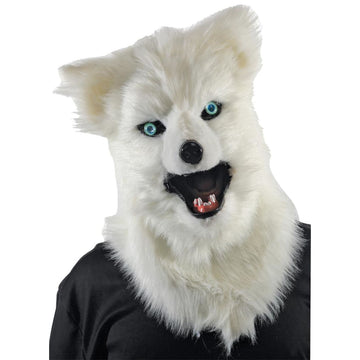 Animated Animal White Wolf Mask - Animal & Insect Costume Costume Masks