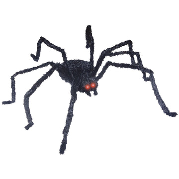 Animated Black Spider 49 Inch - Decorations & Props haunted house decorations