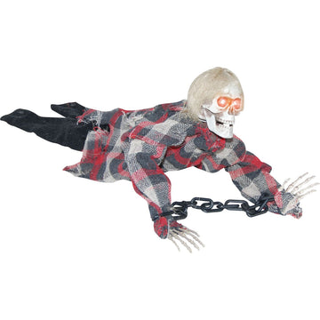 Animated Reaper In Chains - Decorations & Props haunted house decorations