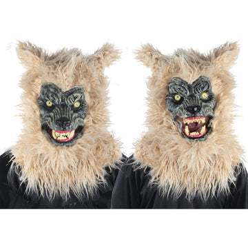 Animated Werewolf Blonde Mask - Animal & Insect Costume Costume Masks Halloween